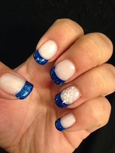 Blue glitter with snowflake