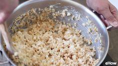 소금에 절인 캐러멜 쌀 크리스피 팝 만들기