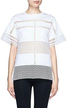 Chloé Diamond lace silk organza under layer T-shirt on shopstyle.co.uk