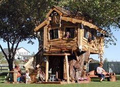 Tree houses have come a long way. You can have anything from fun little playground structures to a full size luxury tree house you can comfortably live in.