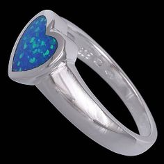 Silver ring, opal, heart Silver ring, Ag 925/1000 - sterling silver. With opal. Beautifully processed opal ring in a shape of the heart. Beautiful stone. Width at the place of pattern approx. 9mm.