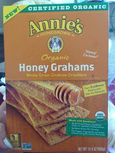 Annie's Honey Grahams - non-GMO and soy-free.