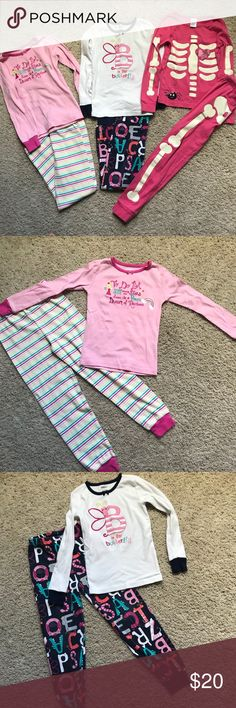 Gymboree pajamas size 2T 4T 4 cat pink leopard time for bed right meow NWT