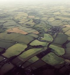 England's green and pleasant land - southern England from the air