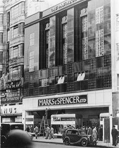 Marks & Spencer, The Pantheon, Oxford Street, 1938 Old London, Vintage London, British Architecture, London Architecture, London History, British History, Tudor History, London Fotografie, Nostalgic Art