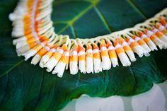 Micronesian Ginger Lei with Lantern Ilima