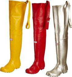 brand new red rubber hunter waders  red love in 2019