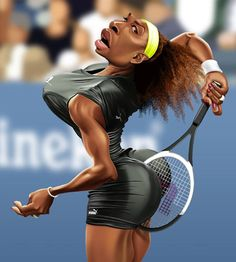 Serena Williams por Fernando Buigues - Caricaturas de Famosos