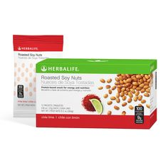Roasted Soy Nuts 12 Packets per Box Chili Lime