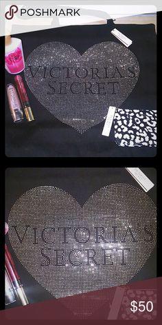 NWT! VS Tote Brand new with tags period block sparkling Victoria's Secret tote bag Victoria's Secret Bags Totes