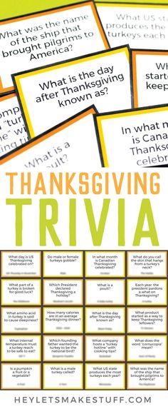 Free Free Printable Thanksgiving Trivia - Hey, Let's Make Stuff