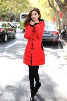 Top quality new 2014 #winter #coat women long sleeve thick slim body