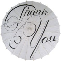 Thank You Wedding Parasol Umbrella