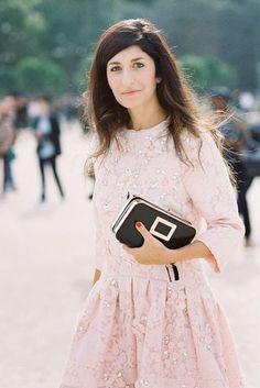 Pink feminine dress.