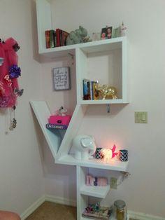 8 ft LOVE bookshelf we made!