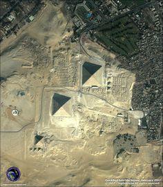 Egypt. Cheops, Chephren and Mycerinos Pyramids