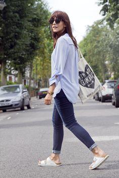 Indigo 'Harper' Skinny Roll Up Jeans
