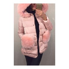 Yoins Pink Zipper Front Hooded Coat (4.025 RUB) ❤ liked on Polyvore featuring outerwear and coats