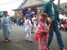 Dancing the Obon Festival dance in Seattle