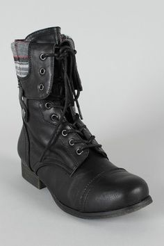 military lace boot (in brown though) ....great site for clothes, etc. urbanog.com