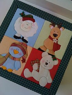 Christmas Crafts by penny Christmas Items, Felt Christmas, Christmas Crafts, Christmas Decorations, Christmas Sewing Projects, Japanese Quilts, Animal Quilts, Quilted Wall Hangings, Holiday Themes