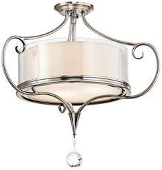"Kichler Laurel 21 1/4"" Wide Classic Pewter Ceiling Light"