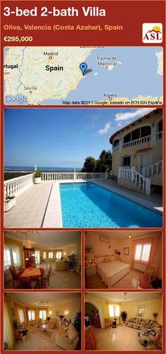 3-bed 2-bath Villa in Oliva, Valencia (Costa Azahar), Spain ►€295,000 #PropertyForSaleInSpain