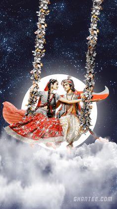 radha krishna beautiful night hd phone wallpaper | radhakrishna