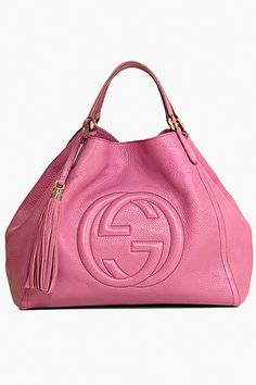 Pink Gucci - Women's Cruise Bags - 2012. an all blk, wht or tan outfit. Wht tees and denims, gold asessories, yes!