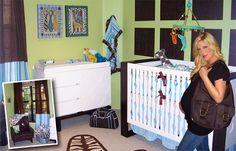 Modern baby crib bedding sets, along with Modern baby crib bedding accessories, are in stock and available at. Baby Nursery Themes, Chic Nursery, Baby Decor, Nursery Ideas, Room Ideas, Baby Crib Sheets, Baby Crib Bedding Sets, Nursery Bedding, Celebrity Nurseries