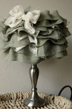Ruffled Burlap Shade Tutorial