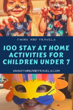 100 fun, stay at home activities for children under 7