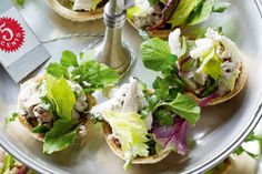 Incorporate salad into your next high tea with this cute tart recipe.
