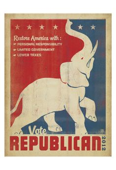 Vote Republican (Elephant) Prints by Anderson Design Group at AllPosters.com