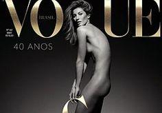 28-Apr-2015 10:07 - GISELE VIERT 20-JARIG JUBILEUM POEDELNAAKT OP VOGUE. Gisele Bündchen draait al heel wat jaartjes mee in de modewereld. Op 15-jarige leeftijd werd de Braziliaanse 'ontdekt' en dat dit nu 20 jaar geleden is, moet natuurlijk gevierd worden! Vogue Brasil koos er daarom voor om de beeldschone blondine poedelnaakt op haar cover te plaatsen. Het Nederlandse fotografenduo Inez van Lamsweerde en Vinoodh Matadin schoot het plaatje. Vogue Brasil heeft zelf ook wat te vieren: het...