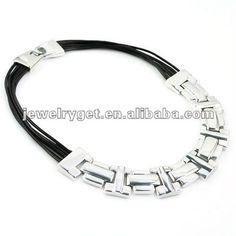 Aliexpress.com : Buy Multi Row Cord Choker Necklace With Chunky Metal Brick Design, Free Shipping, NL 1722 from Reliable silver necklace suppliers on Well Done Fashion Jewelry Co.,Ltd. $11.63