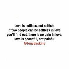 Not selfish