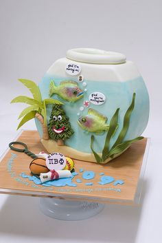 Aquarium Cake by studiocake, via Flickr