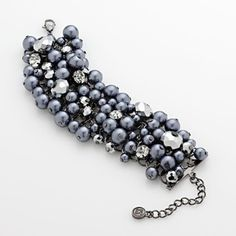 Vera Wang Cluster Bracelet . . . make with blue pearls for a September birthday.