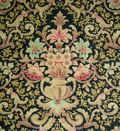 Hey, I found this really awesome Etsy listing at https://www.etsy.com/listing/207990202/french-art-nouveau-floral-print-fabric