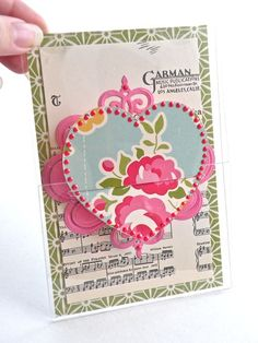 Music heart card