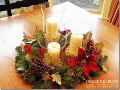 I just love to bring my Christmas Décor out each year and prettify my home in lights and garland and ribbon and sparkle and glitter and all ...