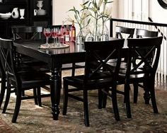 Grey Slipcovered Dining Chairsand The Lantern For The Home - Pottery barn black dining table