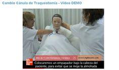 Auxiliar de Enfermería Vídeo Cambio de Cánula de Traqueotomía - Vídeo Demo  #vídeo #mheducation