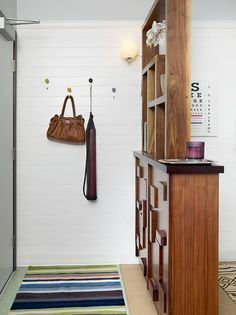 entryway separation shelves. - what a GREAT idea