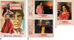 Amitabh #Bachchan Collection   StoryLTD #Collectibles of #GehriChaal (1973) & Majoor (1974) from #BigB. #Original #photographic stills mounted on #lobbycards #bid #today starting at Rs. 1450 ($25)