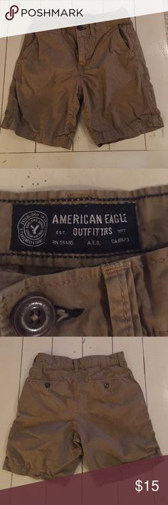 """American Eagle Khaki Shorts New w/o tags.  Excellent condition.  100% Cotton.  7"""" inseam. American Eagle Outfitters Bottoms Shorts"""