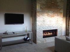 Slab Granite Stone Wall (Colorado Custom Fireplace)