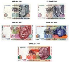 Africa places stunning wildlife on their bills. I wonder if they even consider business check processing in South Africa. Afrikaans Language, Government Spending, Preschool Learning Activities, Business Checks, School Worksheets, Money Matters, Art Education, Arts And Crafts, Notes