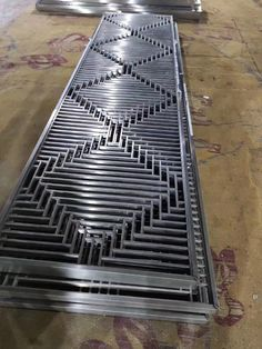 Metal screens before surface finishing